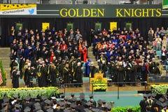 Ceremonie van de Clarkson de Universitaire 2014 Graduatie Stock Fotografie