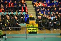 Ceremonie van de Clarkson de Universitaire 2014 Graduatie Stock Afbeelding