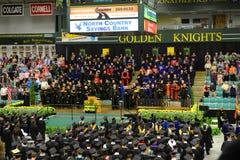 Ceremonie van de Clarkson de Universitaire 2014 Graduatie Stock Afbeeldingen