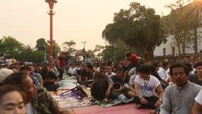 Ceremonie van de deelnemers de Hoofddag in bekwame Khong Khuen stock videobeelden