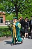 Ceremonie van de Graduatie van Clarkson de Universitaire 2012 Stock Foto