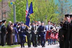Ceremonie van de Graduatie van Clarkson de Universitaire 2012 Stock Fotografie