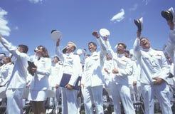 Ceremonie van de Graduatie van de Academie van Verenigde Staten de Zee, 26 Mei, 1999, Annapolis, Maryland stock afbeelding