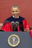 Ceremonie van het de Verjaardagsbegin van Barack Obama Attends de 250ste bij Rutgers-Universiteit Stock Afbeeldingen