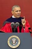 Ceremonie van het de Verjaardagsbegin van Barack Obama Attends de 250ste bij Rutgers-Universiteit Royalty-vrije Stock Foto