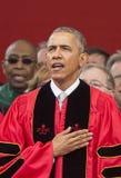 Ceremonie van het de Verjaardagsbegin van Barack Obama Attends de 250ste bij Rutgers-Universiteit Stock Foto