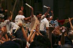 Ceremonie van het Heilige mirakel van de Brand Stock Afbeelding