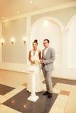 Ceremonie van huwelijk stock afbeeldingen