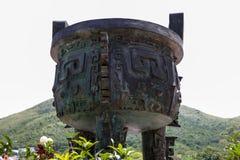Ceremoniell bunke, Tian Tan kulle, Lantau Arkivbilder