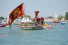 Ceremoniellt fartyg, Festa della Sensa, Venedig Royaltyfria Bilder