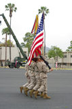 ceremonii colorguard Fotografia Royalty Free