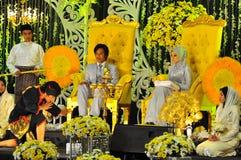 ceremonii malay ślub zdjęcie royalty free