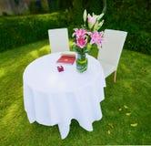 ceremonitabellbröllop Arkivbilder
