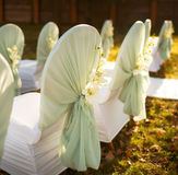 Ceremony in  beautiful autumn  garden Stock Images
