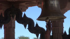 Ceremony bell sound in hindu temple, Jodphur,India Stock Photography