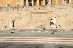 Ceremony of changing Evzones (presidential guards) Royalty Free Stock Photography