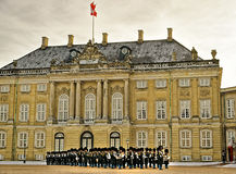 Ceremony of changing of guard on the square near Royal palace in Stock Photos