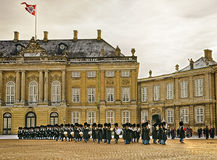 Ceremony of changing of guard on the square near Royal palace in Stock Images