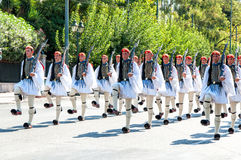 Ceremony changing of the guards in Athens Stock Images
