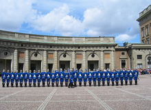 The ceremony of changing the Royal Guard in Stockholm, Sweden Stock Images