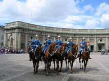 The ceremony of changing the Royal Guard in Stockholm, Sweden Stock Image