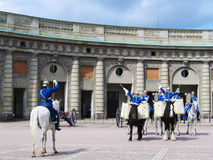 The ceremony of changing the Royal Guard in Stockholm, Sweden Royalty Free Stock Images