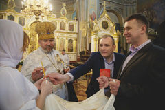 Ceremony of christening Royalty Free Stock Image