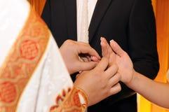 Ceremony in church Stock Image