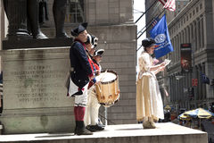Ceremony for declaration of independence in old costumes Royalty Free Stock Photos