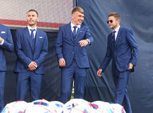 Ceremony of the Departure of the National Football Team of Ukrai Stock Images