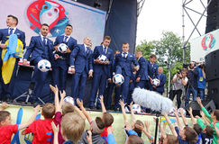 Ceremony of the Departure of the National Football Team of Ukrai Stock Photos