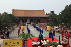 The Ceremony for the Emporer Yongle at his Ming Grave Royalty Free Stock Image