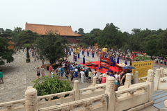 The Ceremony for the Emporer Yongle at his Ming Grave Stock Images
