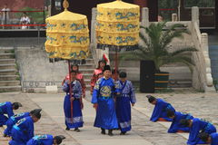 The Ceremony for the Emporer Yongle at his Ming Grave Royalty Free Stock Photo