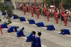 The Ceremony for the Emporer Yongle at his Ming Grave Stock Photography