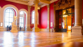 Ceremony hall with a sculpture, Oceanographic museum in Monaco Royalty Free Stock Photo