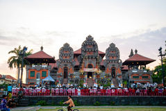 Ceremony at hindu temple, Bali Stock Images