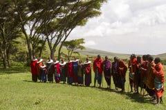 Ceremony,Maasi Village, Ngorongoro Conservationa Area, Tanzania Royalty Free Stock Photos