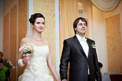 Ceremony of marriage registration Royalty Free Stock Photography