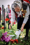 The ceremony at the mass grave in the village of Kaluga region (Russia) on 8 may 2016. Stock Photography