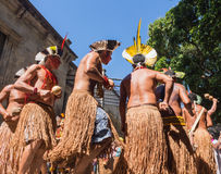 Ceremony of Native Brazilian Indians Royalty Free Stock Photography
