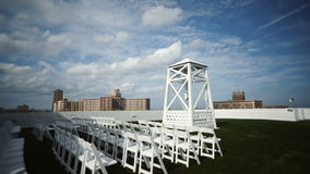 Ceremony near the ocean stock video footage