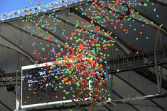 Ceremony of the Olympic Games in Maracana stadium Royalty Free Stock Images
