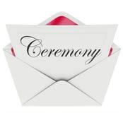 Ceremony Party Commemoration Event Invitation Envelope Stock Image