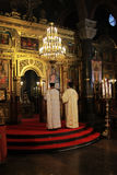 Ceremony. For the removal of silver Miraculous icon ,Is worthy, from  Al. Nevsky Cathedral, Sofia Royalty Free Stock Images