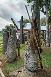 Ceremony site with megaliths. Bori Kalimbuang. Tana Toraja. Indonesia. Ceremony site with megaliths. Bori Kalimbuang or Bori Parinding. It is a combination of Royalty Free Stock Images