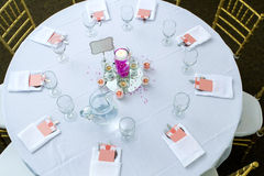 Ceremony table Stock Image