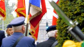 Ceremony to mark Western allies World War Two victory Armistice. STRASBOURG, FRANCE - MAY 8, 2017: Ceremony to mark Western allies World War Two victory royalty free stock photography