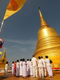Ceremony on the top of the golden mountain Royalty Free Stock Photo
