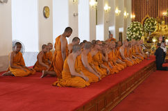 Ceremony at Wat Chana Songkhram Ratchaworamahawihan in Bangkok Stock Image